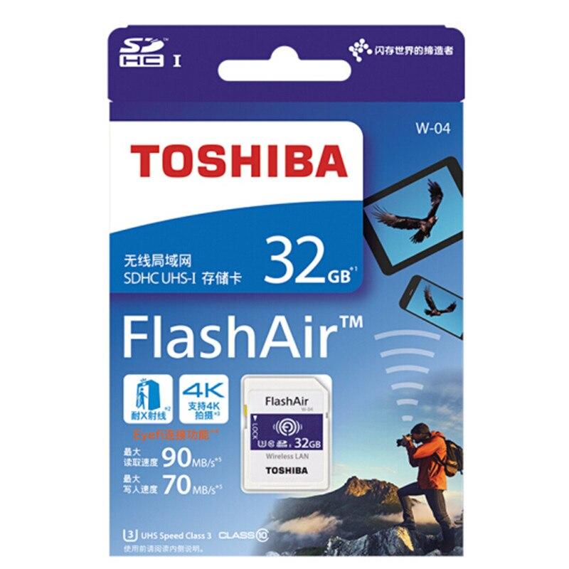 TOSHIBA Flash Memory Card 32GB wifi SD Card 90MB s Wireless SDHC Memory Card Tarjeta sd