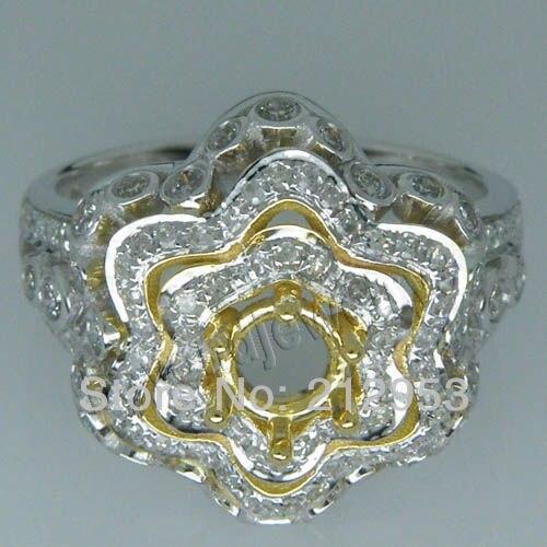 Fine Jewelry Vintage Rodada 4.5mm 18Kt Dois Tons de Ouro Ajuste do Anel  SR0008A 5288e5cb48