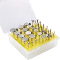 50pcs Set Small Diamond Multifunction Grinding Head Grinding Wheel Bur Grinder For Dremel Rotary Tools