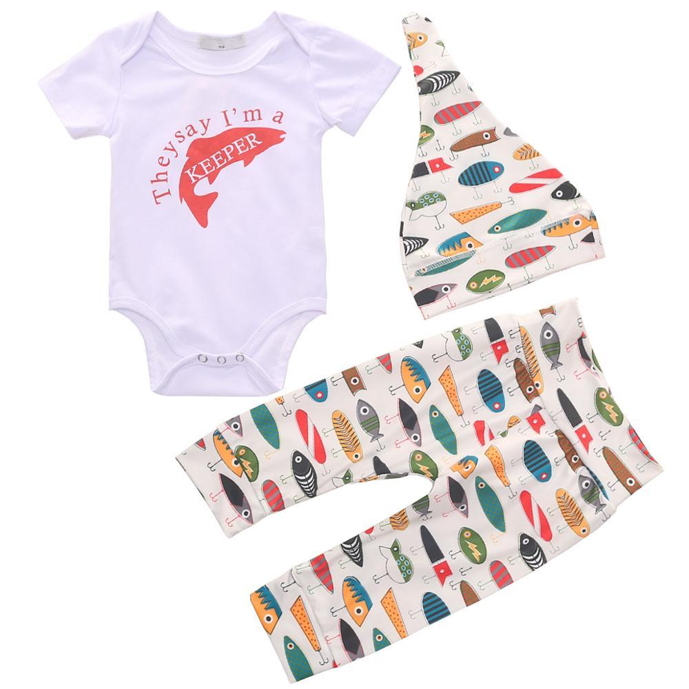 Bebê Recém-nascido Menino Roupa Infantil Romper + Calças Compridas + Chapéu Do Bebê Roupas Ropa Nino Nacido Recien