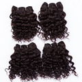 "EVET Kinky Curly Brazilian Human hair  7A Unprocessed Virgin hair Weaves Set Not Full Head Hair Extensions 4pcs 4x8""120g/set"