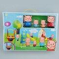 Hot Familia slide parque de atracciones Con Cuatro cerdos Cerdo Modelo Figuras de Acción Juguetes Figuras de Acción Acción Kid Toy Regalo de Chirstmas