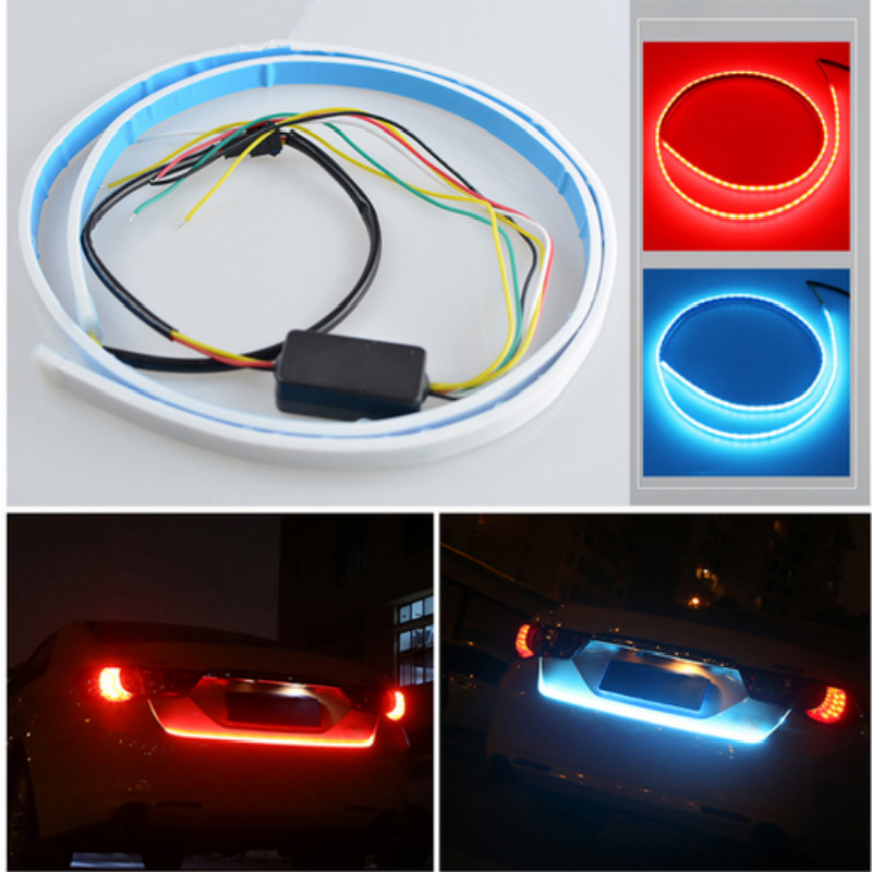 Car Light LED Strips Rear Trunk Tail Lights Braking Turning Signal Warning For Mercedes W211 W203 W204 W210 W205 W212 W220 AMG