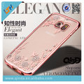 Nuevo diseño de la venta caliente qinda lujo elegante taladro caso suave de tpu para samsung galaxy s6 edge g9250 envío gratis