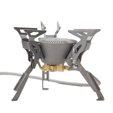 معدات موقد غاز سبليت قابلة للطي للتخييم والتنزه والتخييم في الهواء الطلق من خشب القيقب KING KONG 199g 2450W FMS 100T