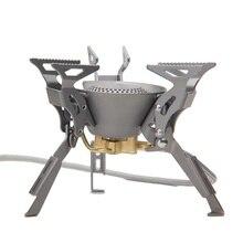 אש מייפל קינג קונג titanium ציוד חיצוני קמפינג טיולים מתקפלים מבערי תנור גז מפוצל 199 גרם 2450 w fms 100t