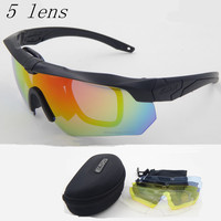Polarized High Quality Sunglasses TR 90 ESS CROSSBOW Military Goggles 5lens Bullet Proof Army Tactial Glasses
