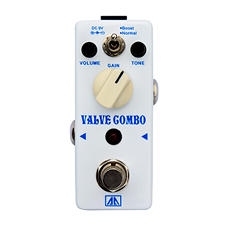 Valve Gombo Amp Simulator Guitar Effect Pedal Classic Tube Overdrive Tone True bypass AA Series Effects for Electric Guitar mooer ensemble queen bass chorus effect pedal mini guitar effects true bypass with free connector and footswitch topper