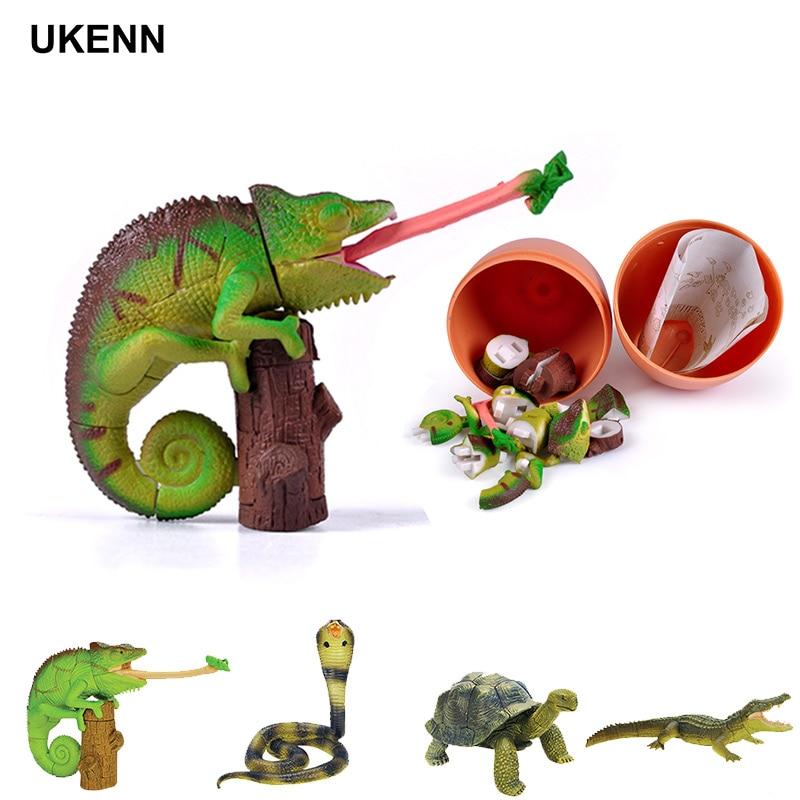 UKENN 4 Pcs Animal Puzzle Egg Easter Egg 3D Educational Toys For Kids