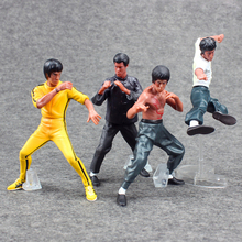лучшая цена Chinese Kung Fu Bruce Lee Action Figures Toy 4pcs/set Cool PVC Figure Model Toy With Box Gifts