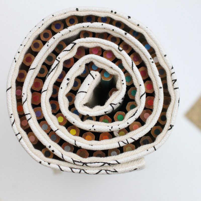 PHANTACI 36/48/72หลุมดินสอกรณีความจุขนาดใหญ่โรงเรียนผ้าใบม้วนกระเป๋าดินสอสีกล่องConstellationร่างแปรงปากกากระเป๋า