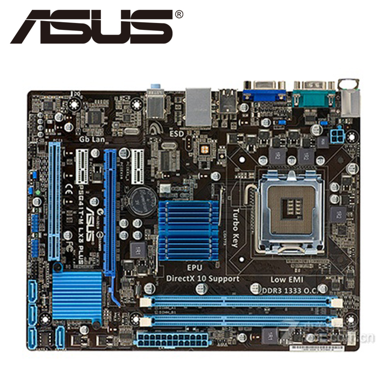 Asus P5G41T-M LX3 Plus Desktop Motherboard G41 Socket LGA 775 Q8200 Q8300 DDR3 8G u ATX UEFI BIOS Original Mainboard On Sale asus m5a78l desktop motherboard 760g 780l socket am3 am3 ddr3 16g atx uefi bios original used mainboard on sale