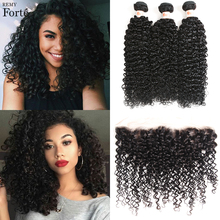 Remy Forte 30 Inch Bundles With Frontal Brazilian Hair Weave Bundles Kinky Curly Bundles With Closure 2 3 Bundles Hair Vendors