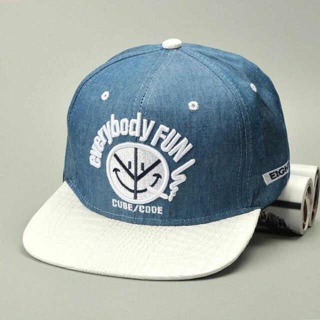 men jean hip-hop cap male leisure baseball cap female leisure chapeau unisex bone women brim straight snapback