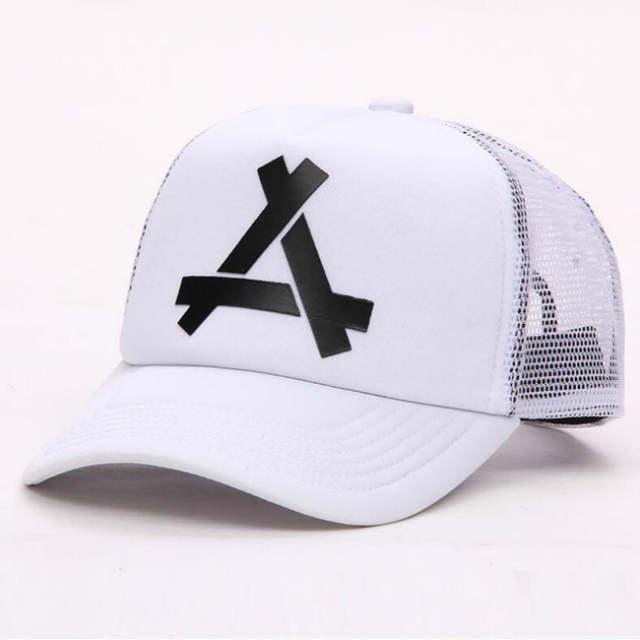 366da47d94e which in shower triangle printed breathable mesh hat summer baseball cap  women men snapback fishing bone curved trucker hat male-in Men's Baseball  Caps from ...