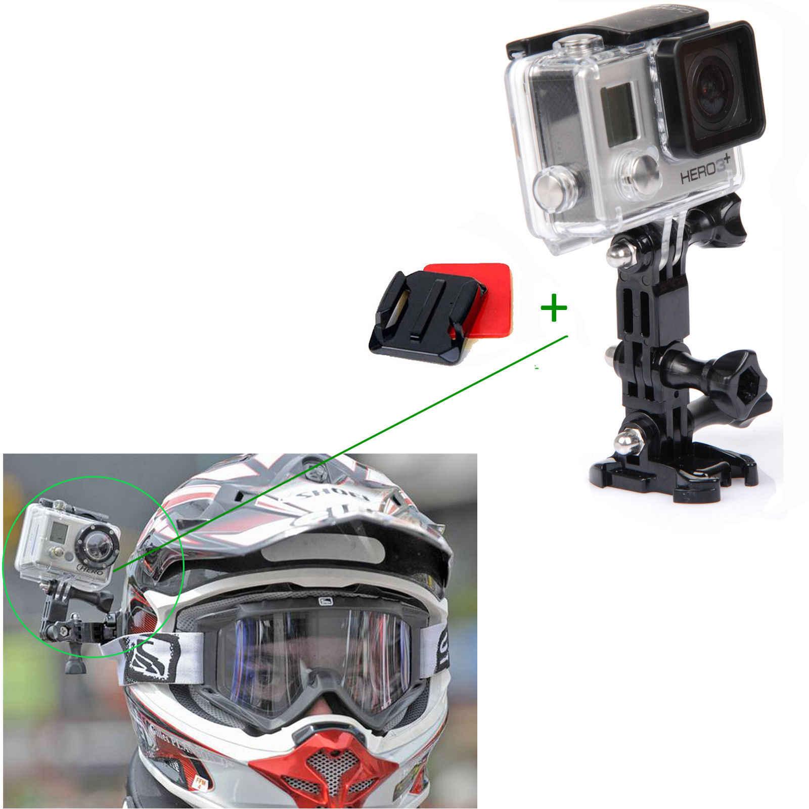 Камера аксессуары мотоциклетные набор шлемов для Gopro4 3 + Совместимость с SJ4000 Xiaoyi Камера