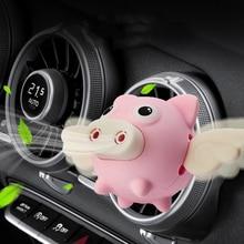 Cartoon pig Car Air Freshener perfume Automobile Interior Perfume Clip Fragrance Decoration  Ornaments Accessories