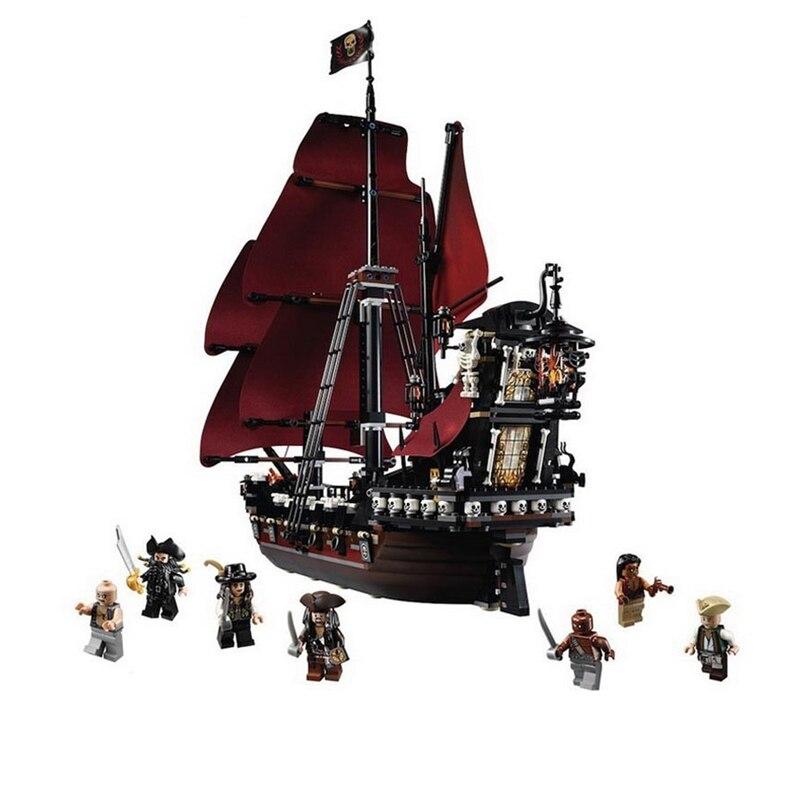 2018 barco pirata Venganza de La Reina Ana Piratas del Caribe bloques de construcción Set Juguetes DIY Compatible LegoINGlys 4195