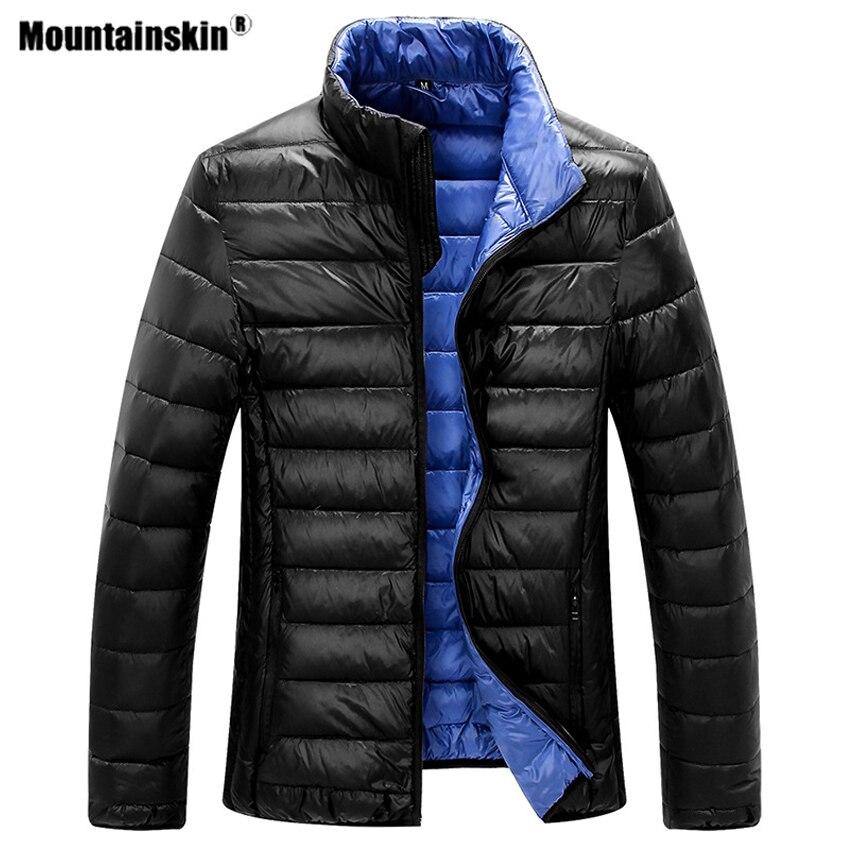 Mountainskin Men's Duck Down Hiking Jackets Ultra Light Autumn Winter Outdoor Sports Lightweight Portable Male Overcoats VA456