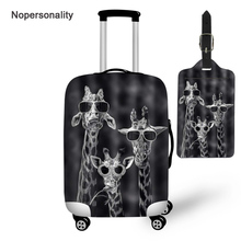 Nopersonality Cute Giraffe Print Travel Luggage Protector Cover Elastic 18-30inch Suitcase Cover Waterproof Travel Accessories