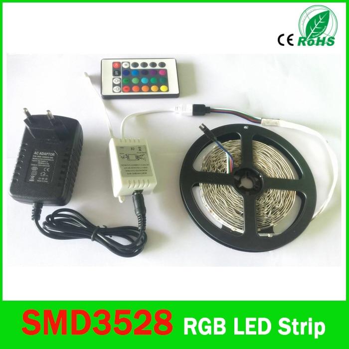 LED Strip Light 3528 SMD 5 M 300Led RGB LED Stripe 24Key IR - LED-Verlichting