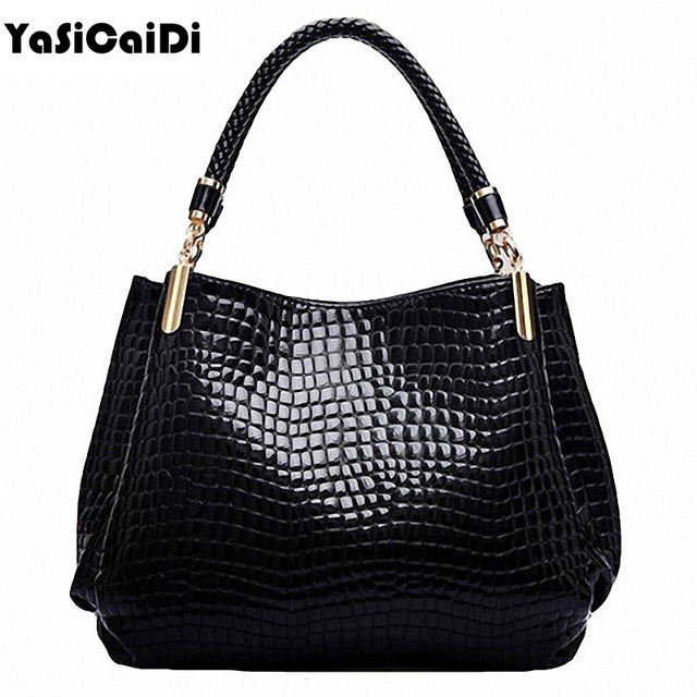 high-grade Crocodile Grain PU leather Women bag ladies single Women shoulder Bag Tote Bolsas handbags Sac a Main Femme de marque