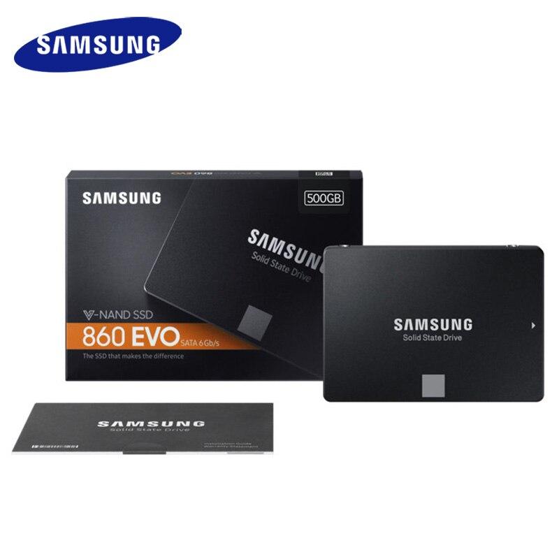 """SAMSUNG 860 EVO 250GB 500GB 1 ТБ Внутренний твердотельный диск 2,"""" SATA3 SSD ноутбук SSD Настольный ПК TLC disco duro ноутбук"""