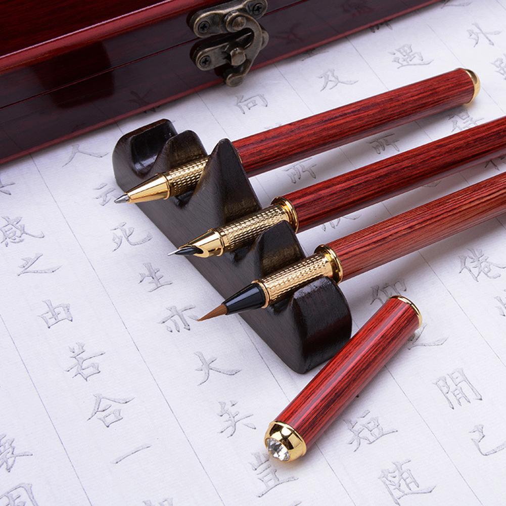 Vente stylo plume encre écriture brosse plumes calligraphie chinoise + ensemble d'outils de peinture