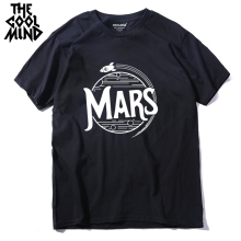 COOLMIND qi0404A 100% cotton short sleeve cool mars print men T shirt casual summer mens tshirt male o-neck t-shirt tee shirts
