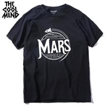 COOLMIND qi0404A 100% cotton short sleeve cool mars print men T shirt casual summer mens tshirt male o-neck t-shirt tee shirts