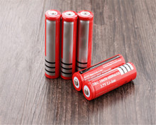 Free shipping  8 X 18650 battery 3.7V 6800mAh Li-ion Rechargeable Battery for Flashlight Hot New 3.7v