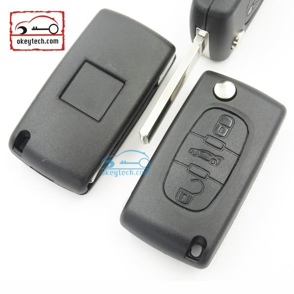 aliexpress : buy 1pcs/lot 3 button car remote folding flip