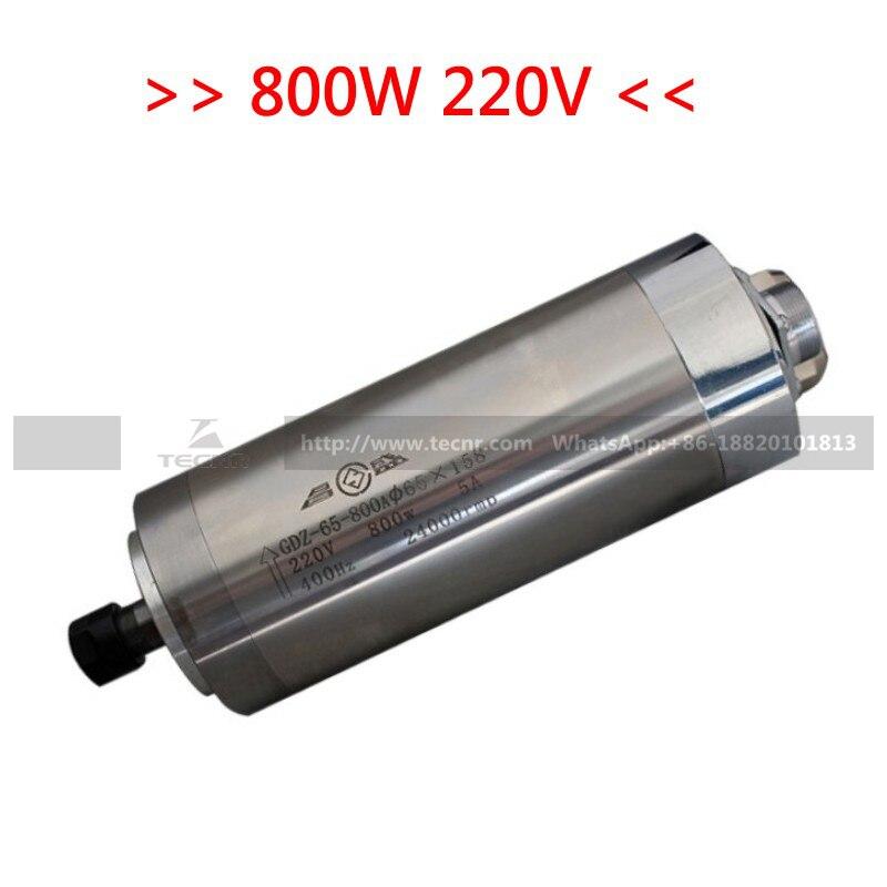 Spindlikomplekt 800W 220V CNC ruuteri vesijahutusega spindelmootor + - Tööpingid ja tarvikud - Foto 2