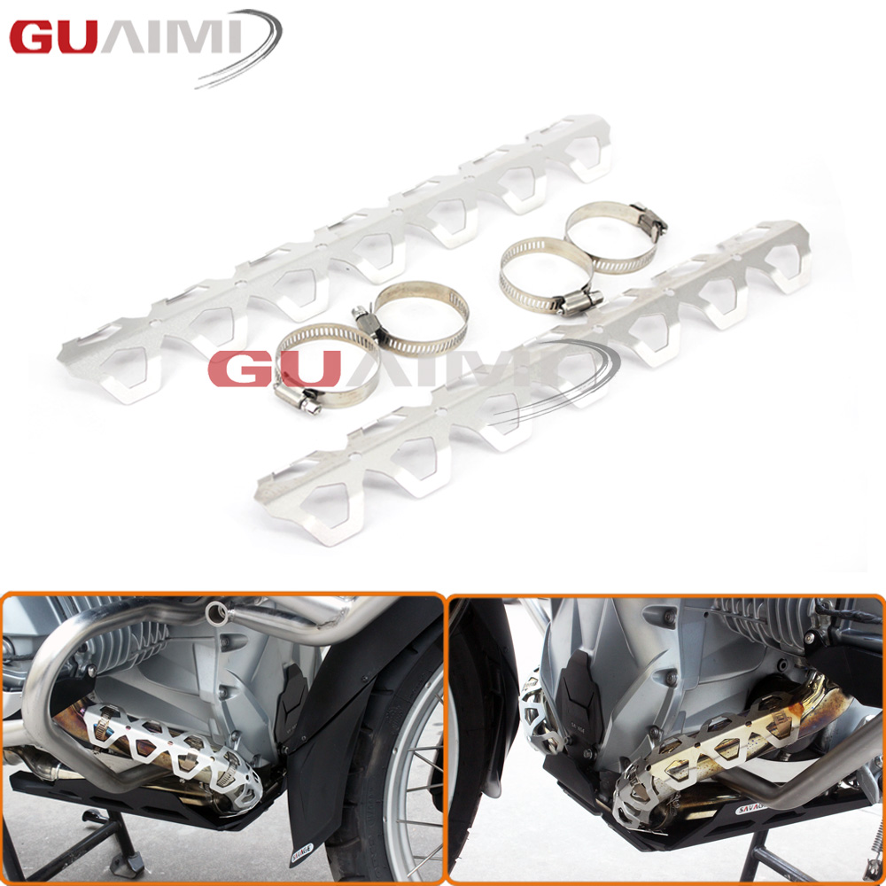 Motorcycle Exhaust Muffler Pipe Leg Protector Heat Shield Cover For BMW R1200GS LC 2013-2016 R1200 GS ADV 2014 2015 2016