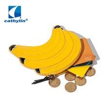 Cathylin Lustige banana Handtasche Für Frauen Party Shoulder milch Kuchen Banana wassermelone Hamburger Leder karte Taschen Geldbörse