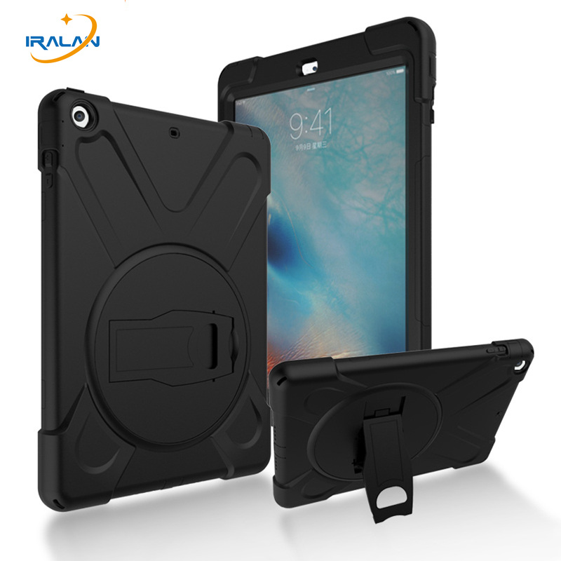 2017 hot Kids Safe Shockproof Case for Apple Ipad Air 1 Heavy Duty Hardr for Ipad 5 360 Rotatable Cover + Screen film + Stylus