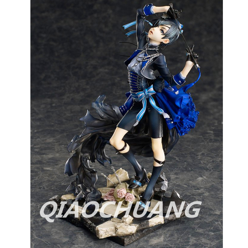Anime Black Butler Book of Muder Ciel Phantomhive PVC Action Figure Collectible Model Toy 21cm RETAIL BOX W72