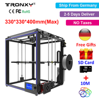 Tronxy X5S 3D Printer DIY Kit i3 High Precision Metal 3D Printer DIY Kit +Aluminium Extruder Hotbed SD Card Build Tools Filament
