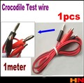 1pcs 1m Double-ended-Alligator Clips Test Line-Crocodile Test Clamp Connector with Wire