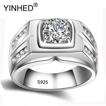 f7e9cb74dd23 ¡Promoción! Galaxia 925 Plata de Ley lujo 4 quilates CZ diamante cristal  anillo de boda para mujeres tamaño del anillo US 5 6 7 8 9 10 11 12