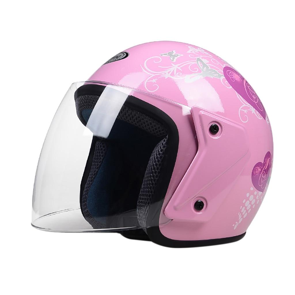 Analytisch Motorrad Helme Fahrrad Helm Open Gesicht Dual Objektiv Visiere Frauen Sommer Roller Motorrad Moto Helm Fahrrad Mädchen Frauen #30 GroßE Vielfalt