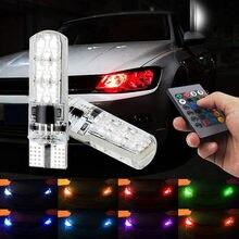 2 pz T10 w5w 194 Auto RGB Luce di Parcheggio Per Toyota Corolla Avensis Yaris Rav4 Auris Hilux Prius Camry 40 celica Supra Prado Verso