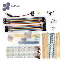 Макет Инструменты комплект W/Макет Мощность модуль/джемпер Провода/резистор/LED/кнопка для Arduino DIY