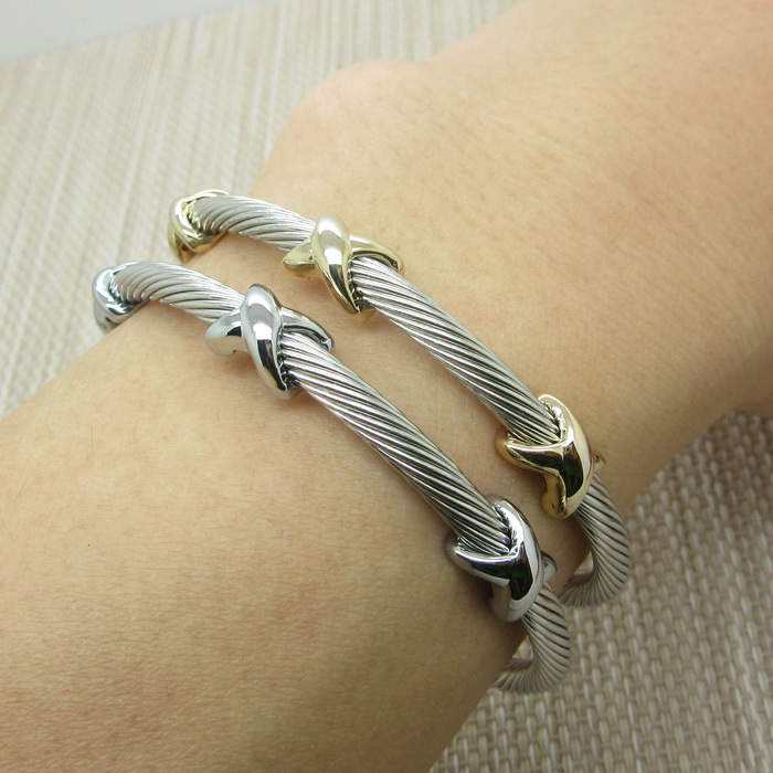 Mode illimité x lettre titanium acier bracelet charm bracelet fil femmes & hommes partie bijoux mâle accessoire cadeau