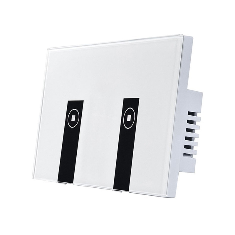 WiFi Smart Light Switch 2 Switches Touch Wall Plate Alexa Light Switch In Wall Wireless On