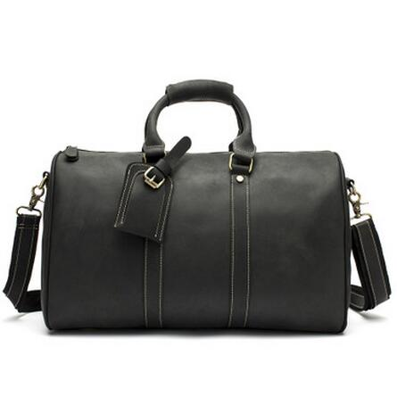 Genuine Leather Handbag Men Travel Bag System Durable Large Capacity Of Bags Black Wearable Shoulder Crossbody Bags high quality authentic famous polo golf double clothing bag men travel golf shoes bag custom handbag large capacity45 26 34 cm