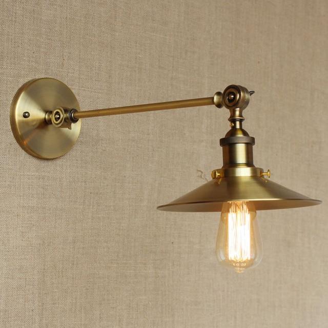 modern loft Bronze iron adjustable led wall lamp Vanity Lights E27 ...