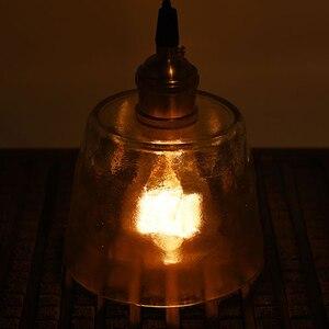 Image 2 - Хрустальная медная Подвесная лампа ручной работы из матового стекла для ресторана, отеля, столовой, кафе бара, латунная Подвесная лампа