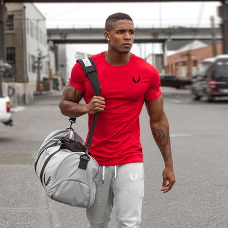 ce7dec91af4a Quick Dry Compression Shirt Slim Fit Tees Men Gyms T-Shirts Bodybuilding  Tops Fitness O-Neck Short Sleeve T Shirt - Feseldo.com