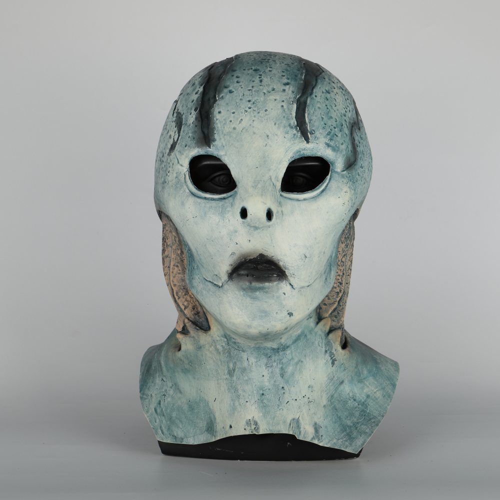abe sapien Mask Anung Un Rama Hellboy Cosplay B.P.R.D. Helmet Fish Face Masks Funny Halloween Party Props (3)